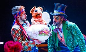 The March Hare and the Mad Hatter in The Mad Hatter's Tea Party