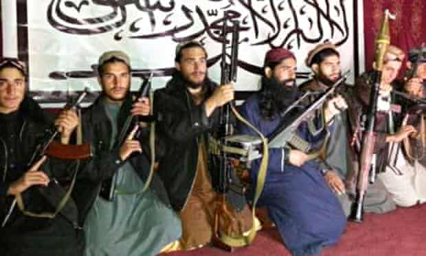 Militants, who the Pakistan Taliban say attacked the Army Public School, at an unknown location
