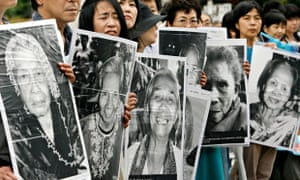 Japanese 'comfort women' protests in Tokyo