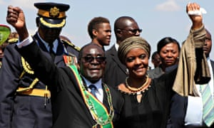 Robert Mugabe and his wife Grace in Harare, August 2014
