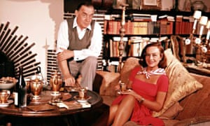 Erich Maria Remarque and his wife Paulette Goddard
