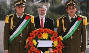 Sinn Féin leader, Gerry Adams,