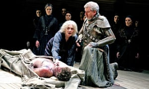 Malcolm Tierney and Vanessa Redgrave on stage in Hecuba