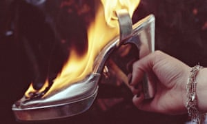 Burning high-heeled silver shoe: Alexis Hunter's Approach to Fear XIII: Pain - Destruction of Cause