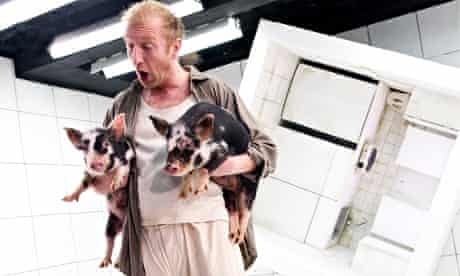 Steffan Rhodri onstage with piglets: I'd Rather Goya Robbed Me of My Sleep Than Some Other Arsehole