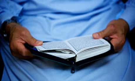 Man reading Qur'an