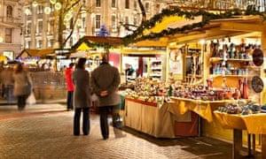 Christmas market, Vorosmarty Square, Budapest, Hungary
