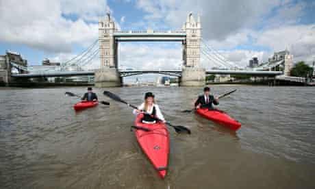 Kayaking to work