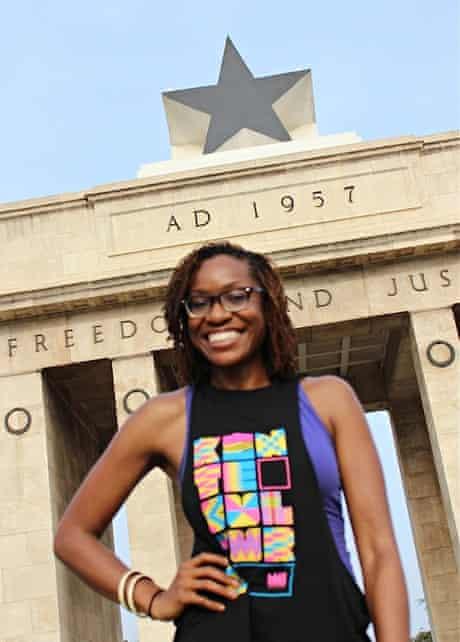 Victoria Okoye at Black Star Square in Accra, Ghana