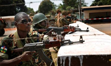 frican Union peacekeepers and French troops, Bangui, Central African Republic