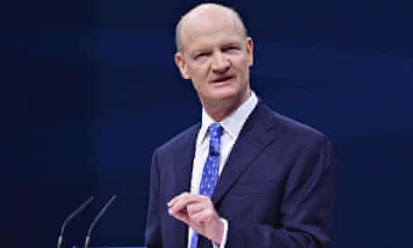 David Willetts at Conservative party conference, Manchester, 2013