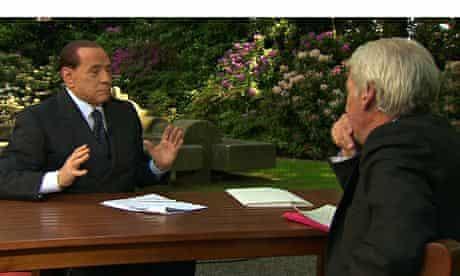 Jeremy Paxman and Silvio Berlusconi on Newsnight