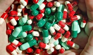 Handful of antibiotics