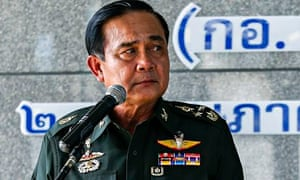 Thai army chief General Prayuth Chan-ocha speaks during a news conference