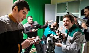 Trekkies film Startrek episode in their kitchen