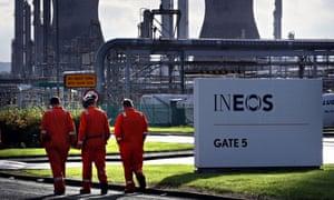 Grangemouth oil refinery in Falkirk, Scotland
