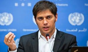 Argentina's economics minister, Axel Kicillof