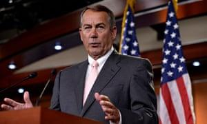 US Speaker of the House Republican John Boehner