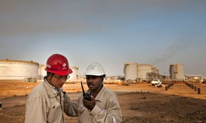Chinese oil workers in South Sudan