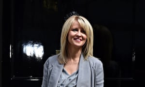 Employment minister Esther McVey leaves Downing Street