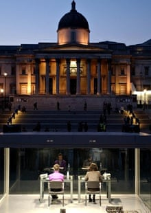 A continuous reading of On Kawara's One Million Years [Past] and [Future] in Trafalgar Square