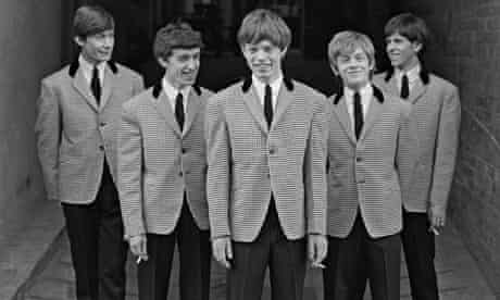 The Rolling Stones in houndstooth jackets and dark-grey trousers c1963