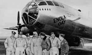The crew of the Enola Gay, the B29 plane from which the atom bomb was dropped on Hiroshima