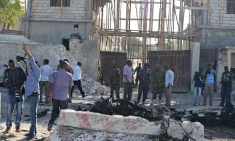 Aftermath of an attack on palace, Mogadishu, February 2014