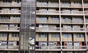 Tower block facade