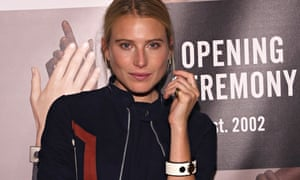 Dree Hemingway wears Intel's Mica smart bracelet at Opening Ceremony's SS2015 after party