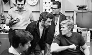 Bob Crewe (right) in the studio with the Four Seasons in 1967 in New York