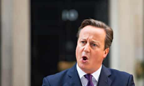 PM David Cameron addresses the media outside Downing Street