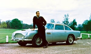 Former James Bond star Sir Sean Connery with the character's trusty Aston Martin