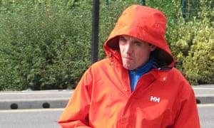 Ashley Dodd arriving at Nuneaton magistrates court