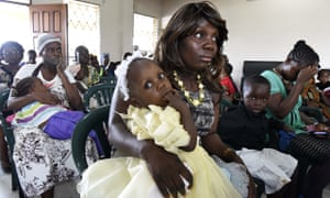 A mass in Liberia, the country hardest hit by Ebola