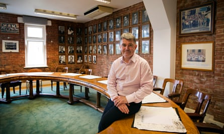 Mick Cash sits on the RMT negotiating table
