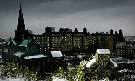 Glasgow Royal Infirmary Glasgow seen from the city's necropolis