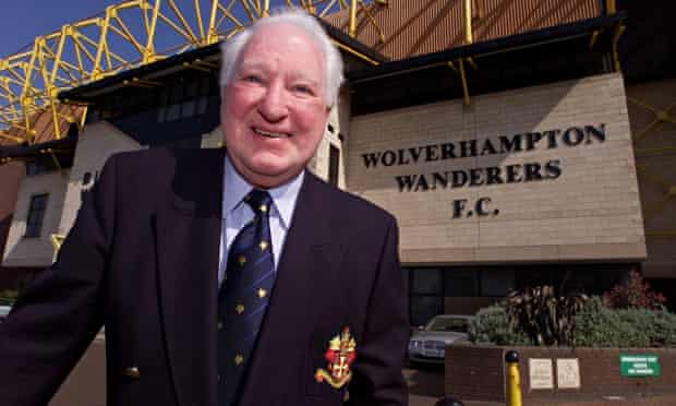 Jack Hayward outside the Wolves football ground. Hayward has died aged 91