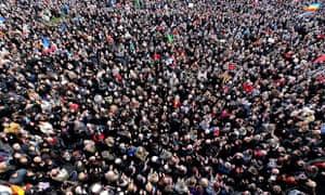 Charlie Hebdo unity rally in Reims, 11 January