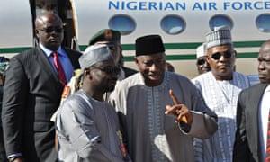 Goodluck Jonathan in Maiduguri on 15 January 2015