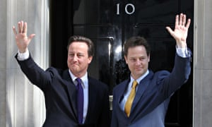David Cameron and Nick Clegg outside 10 Downing Street