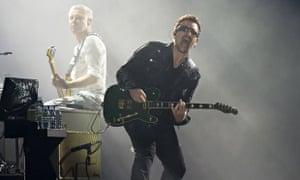 Bono and, left, Adam Clayton