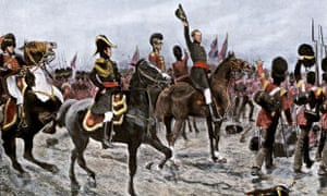 Painting showing the Duke of Wellington at the Battle of Waterloo, 1815