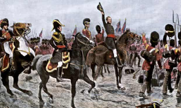 A depiction of the Duke of Wellington ordering the British line to advance at the Battle of Waterloo in 1815. France has objected to a €2 Euro coin being minted by Belgium to commemorate Napoleon's defeat.