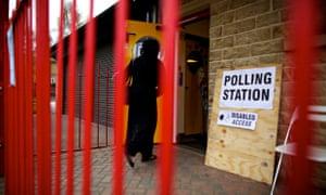 Polling station in Bradford