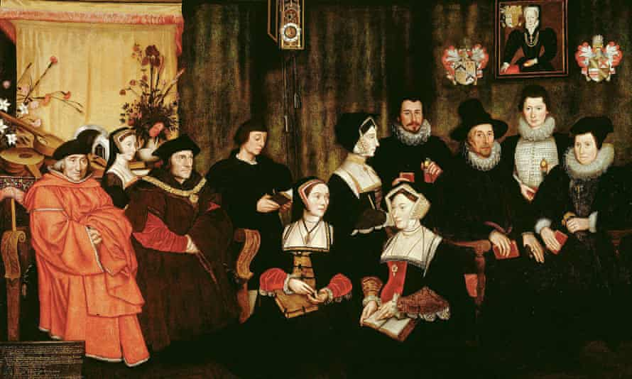 The 1593 copy of Hans Holbein's painting of Thomas More and his family attributed to Rowland Lockey