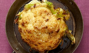 Yotam Ottolenghi's roasted whole cauliflower with creme fraiche