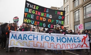 The March For Homes' demonstration in London on 31 January