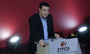 Alexis Tsipras speaking to Syriza's central committee in Athens on Saturday