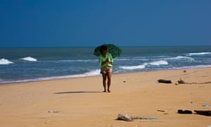 The beach at Kalpitiya in Sri Lanka, where there are plans for 10,000 hotel beds.